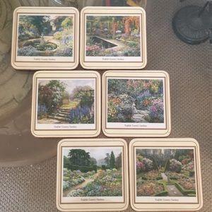New English garden coaster, set of six